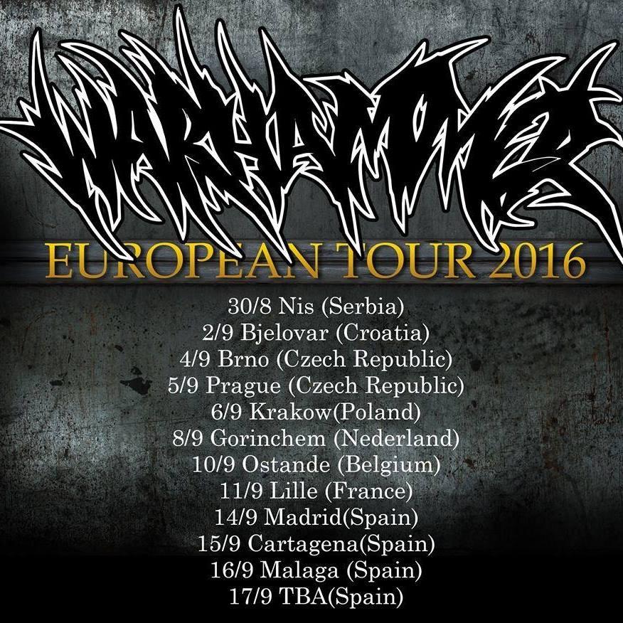 Warhammer tour 2016