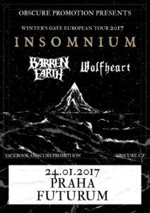 Insomnium, Barren Earth, Wolfheart @ Praha - Futurum | Česká republika