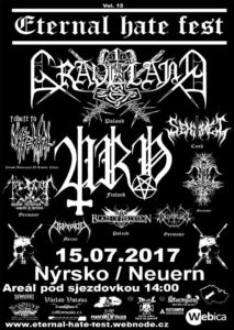 Eternal Hate Fest 2017 @ Nýrsko - Areál pod sjezdovkou | Nýrsko | Česko