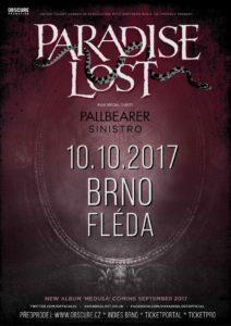 Paradise Lost, Pallbearer, Sinistro @ Brno - Fléda Club | Česko