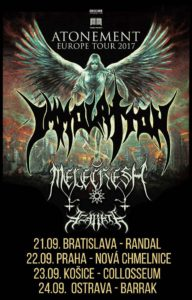 Immolation, Melechesh, Azarath @ Ostrava, Barrák music club | Česko