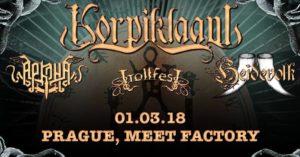 Korpiklaani , Arkona , Heidevolk , Trollfest @ Praha, MeetFactory | Praha | Česko