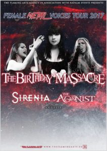 The Birthday Massacre, Sirenia, The Agonist @ Ostrava, Barrák music club | Česko