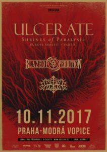 Ulcerate, Blaze of Perdition, Outre @ Praha, Modrá Vopice | Praha | Česko