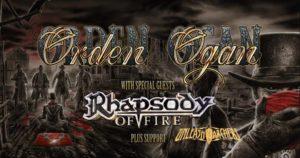 Orden Organ, Rhapsody of Fire, Unleash The Archers @ Praha, Nová Chmelnice | Hlavní město Praha | Česko