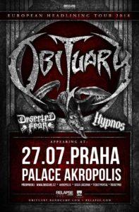 Obituary, Deserted Fear, Hypnos @ Praha, Palác Akropolis | Hlavní město Praha | Česko