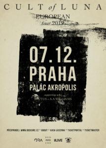 Cult of Luna, Brutus, A. A. Williams @ Praha, Palác Akropolis | Hlavní město Praha | Česko