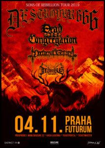 Destroyer 666, Dead Congregation, Nocturnal Graves @ Praha, Futurum Music Bar | Hlavní město Praha | Česko